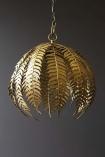 Gold Fern Leaf Pendant Light