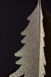 Close-up image of one of the Gold Paper Christmas Trees