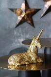 Gold Glitter Unicorn Ornament