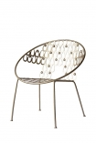 Gold Metal Circular Droplet Chair