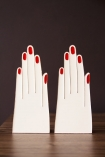 Front on image of the Handy Hands Bookends