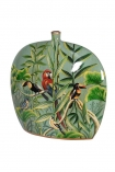cutout Image of the Hand Painted Jungle Deco Vase on a white background