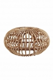 cutout Image of the Handmade Woven Wicker Pouffe on a white background