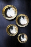 Set Of 4 Handmade Brass Polished Bowls