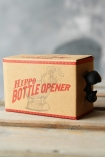 detail image of box of Hippo Bottle Opener on wooden table