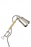 cutout image of Retro style directional clamp task light on white background