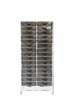 Industrial-Style Filing Drawer Storage Cabinet on a white background cutout image from front