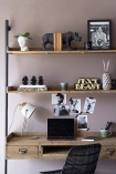Industrial-Style Desk Unit With 2 Shelves