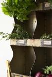 Industrial-Style Pigeon Hole Shelf Unit