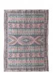 Jaipur Green & Coral Cotton Dhurrie Rug