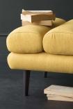 Jive Herringbone Tweed Footstool  - Mustard