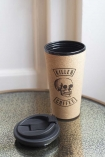 Image of the Killer Coffee Reusable Cork Coffee Cup with lid off