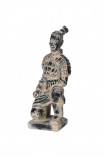 cutout Image of the Kneeling Qin Dynasty Figure Ornament on a white background