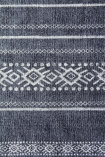 Kochi Black & Natural Diamond Stripe Cotton Rug