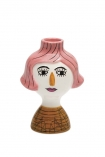 cutout Image of the Conchita Pink & Mustard Lady Candleholder on a white background