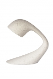 cutout Image of the 100% Recycled Unique Large Arched Table Light - Stone White on a white background