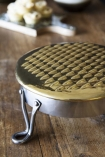 Large Brass Cheese Grater On Feet