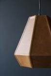 Hexagonal Pyramid Leather Pendant Light