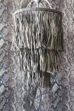 Leather Tassel Chandelier - Grey