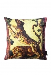 cutout image of the Two Leopards Velvet Cushion on white background