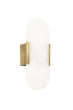 cutout Image of the Art Deco Oval Marble Wall Light on a white background