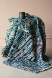 Lifestyle of Lucy Tiffney Vibrant Lagoon Cotton Throw