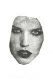 cutout image of Unframed Masked 2 VII Art Print By Amber Devetta on white background