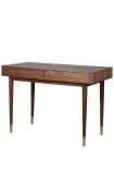 Image of the Mid-Century Design Two Drawer Desk on a white background angled cutout