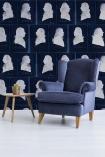 Mind The Gap Dutch Blauw Collection - Dutch Portraits Wallpaper - Blue