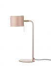 cutout Image of the Modern Gold Accent Table Lamp - Dusky Pink on a white background