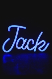 Image of Jack LED Neon Light in blue switched on
