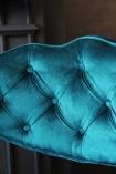 detail image of top of Cloud Velvet Chair - Ocean Deep Green