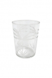 cutout Image of the Elegant Engraved Palm Tumbler Water Glass on a white background
