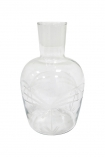 cutout Image of the Elegant Engraved Palm Carafe on a white background