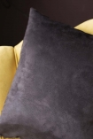 Image of the black back on the Single Pink Rose Velvet Cushion