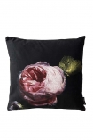 cutout image of the Single Pink Rose Velvet Cushion
