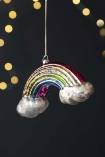 Image of the Rainbow Hanging Decoration on a black sparkly background
