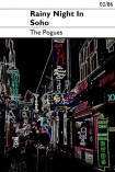 detail image of Unframed Rainy Night In Soho - The Pogues Art Print neon lights with black typography