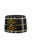 Image of the Black, Natural & Yellow Rope Lamp Shade on a white background