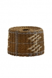 Image of the Brown, Natural & Grey Rope Lamp Shade on a white background