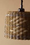Close-up image of the Brown, Natural & Grey Rope Lamp Shade