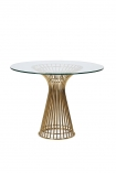 cutout Image of the Round Glass Top Dining Table on a white background