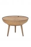 cutout Image of the Oak Curve Coffee Table With Lid on a white background