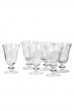 Image of the Set Of 6 Ribbed Glass Wine Glasses on a white background