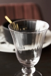 Close-up image of the Ribbed Glass Wine Glass