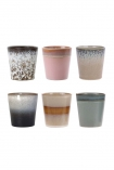 cutout image of Set Of 6 Earthenware Tumblers - Style 2 on white background