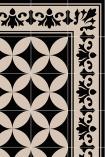 detail image of pattern on Beija Vinyl Floor Runner - Sofi Antique