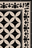detail image of the pattern on Beija Vinyl Splashback Roll - Sofi Antique