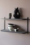 Industrial-Style Steel Double Wall Shelf