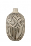 cutout Image of the Stone & Black African Ceramic Bottle Vase on a white background